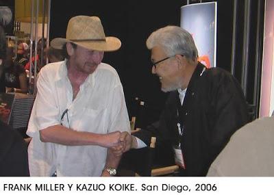 Takoyaki de tebeos: Entrevista de Frank Miller a Koike y Kojima.