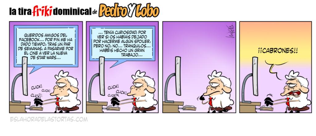La tira Friki dominical de Pedro y Lobo: Land of Spoilers