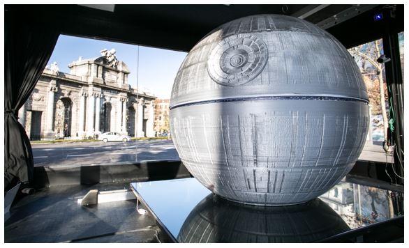 Finaliza la impresión en 3D de la Estrella de la Muerte.