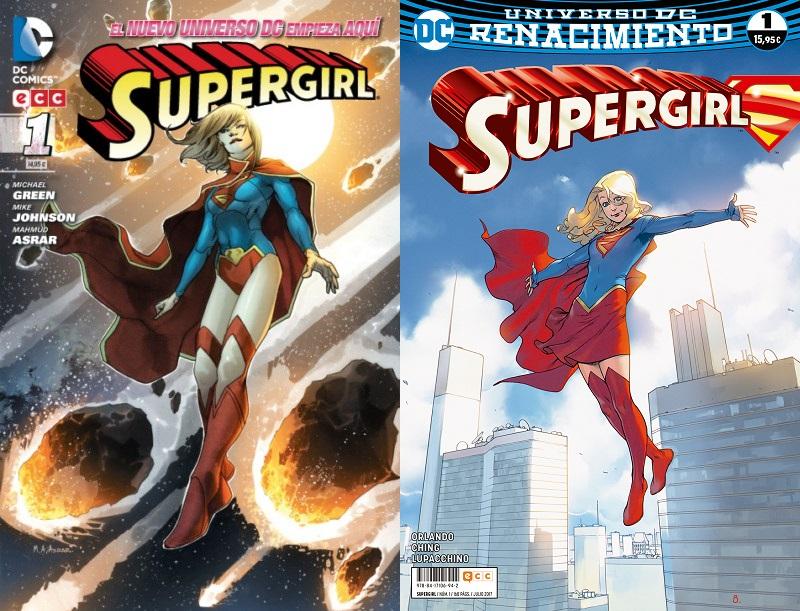 Supergirl: Los Nuevos 52 vs. Renacimiento