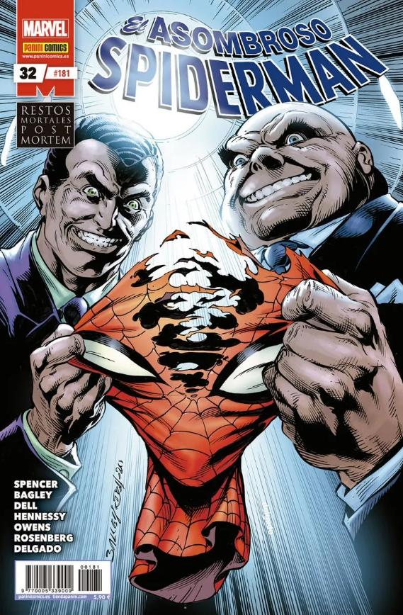 Spiderman 32 restos mortales post mortem