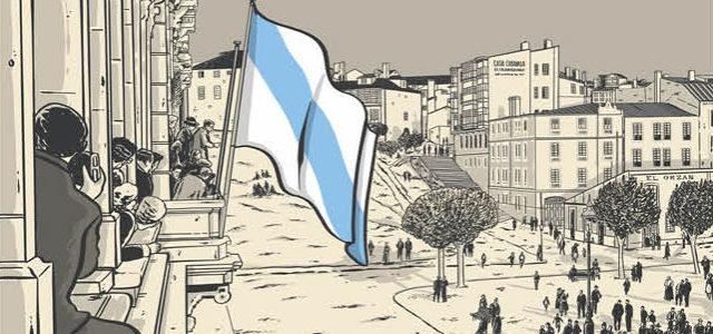 1921-2021. 100 anos da bandeira galega no Palacio municipal da Coruña